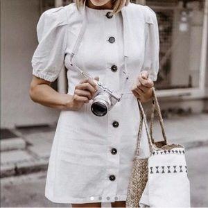 NWT Zara Linen Mini Dress